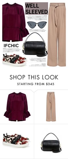 """""""Style Memo: WELL-SLEEVED"""" by ifchic ❤ liked on Polyvore featuring McQ by Alexander McQueen, TIBI, Mother of Pearl, Le Specs Luxe and contemporary"""