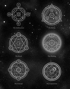 Alchemica l Vectors. Alchemy Symbols, Magic Symbols, Ancient Symbols, Alchemy Art, Sacred Geometry Symbols, Muster Tattoos, Tattoo Hals, Occult Art, Magic Circle