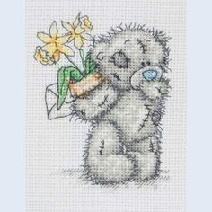 Daffodils - Me To You - Tatty Teddy - counted cross stitch kit Coats Crafts
