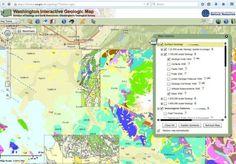 Washington State interactive geology map