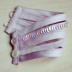 Wrist Cuff Light Pink Fabric Bracelet by CLabAtelier on Etsy https://www.etsy.com/listing/213748733/wrist-cuff-light-pink-fabric-bracelet