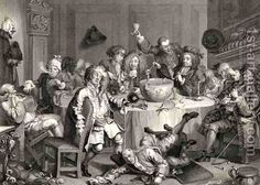 A Midnight Modern Conversation from The Works of William Hogarth by William Hogarth