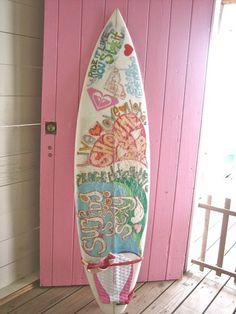 pink door and girlie surf board