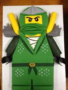 TrashN2Tees: Ninjago Birthday Party: Green Ninja CAKE!