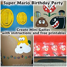 Super Mario birthday party games - with free printables