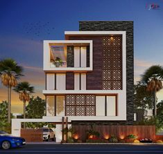Modern house plans offer a great alternative to the more traditional styles.Unlike age-old properties, new apartments and homes are built to optimize the comfort of modern housing. Front Elevation Designs, House Elevation, Bungalow House Design, House Front Design, D House, Facade House, Facade Design, Exterior Design, Indian House Plans