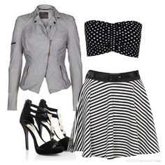 Stripes & Polka Dots  | Women's Outfit | ASOS Fashion Finder