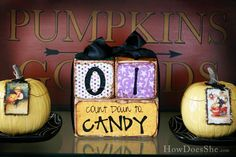 Count Down to Candy! So FUN! #halloween #countdown
