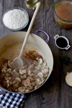 Sausage and Mushroom Risotto | http://joythebaker.com/2015/01/sausage-mushroom-risotto/