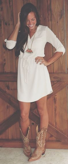 Simple cotton dress.. Just couldn't be white.