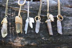 love these natural stone pendants...so pretty!