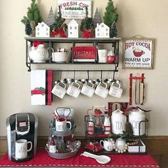 Find ways to create the best DIY coffee station ideas these unbelievably stylish. From home coffee station, DIY coffee station, to kitchen coffee station. Coffee Bar Home, Home Coffee Stations, Coffee Corner, Coffee Bars, Coffee Nook, Drink Coffee, Coffee Cup, Christmas Coffee, Christmas Home