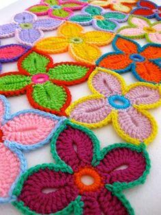 Luty Artes Crochet: Xale de flores