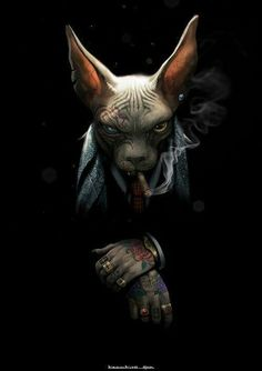 Oscar Grigoriev - Sphynx cat in the image of a man Fantasy Kunst, Fantasy Art, Furry Art, Arte Fashion, Sphinx Cat, Tatoo Art, Dope Art, Animal Heads, Fantasy Creatures