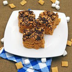 Crispy Brown Butter Peanut Butter Cereal Bars