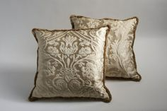 Silk cushions, Versace Home, price on request