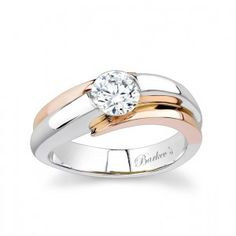 Barkev's Two Tone Solitaire Engagement Ring