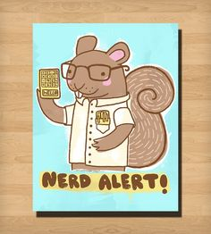 Nerd Alert Print | Art Prints | Heather Lund Illustration