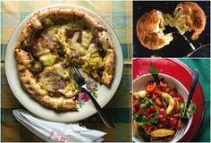 Bring the heart of Naples home with this menu of classic pizza recipes: a pie topped with Mortadella, mozzarella, and a buttery pistachio pesto; pizza stuffed with earthy mushrooms; and a spread of salads, appetizers, and Italian-inspired drinks. See the menu »