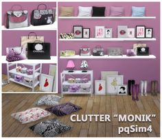 "PQSims4: Bedroom clutter 'Monik"" • Sims 4 Downloads"