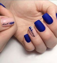 nail art designs for spring \ nail art designs . nail art designs for spring . nail art designs for winter . nail art designs with glitter . nail art designs with rhinestones Purple Nail, Blue Nails, Nail Art Blue, Neutral Nail Art, Ombre Nail, Red Nail, Black Nail, Pretty Nail Art, Beautiful Nail Art