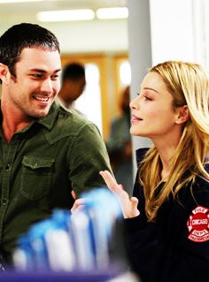 Severide  Shay from Chicago Fire. I cannot handle their cuteness.