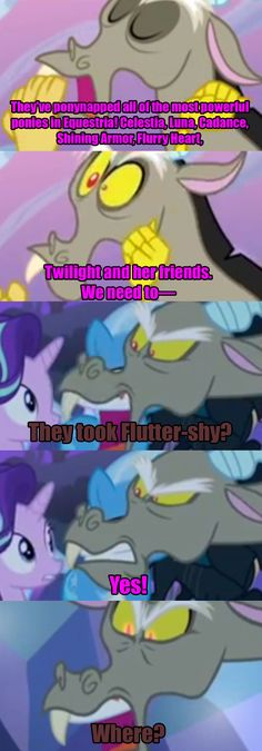 And here we see the show CRUSHING the hearts of every Discord shipper...unless you ship Fluttercord.