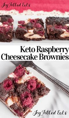 These 3 net carb Dark Chocolate Raspberry Cheesecake Brownies are an amazing healthy dessert. With chocolate raspberries & cheesecake they will be your new fave treat. They are perfect for Valentine's Day! Click The Image To Learn Raspberry Brownies, Chocolate Raspberry Cheesecake, Valentine Desserts, Keto Valentines Day, Low Carb Cheesecake, Cheesecake Brownies, Bon Dessert, Dessert Recipes, Low Carb Desserts