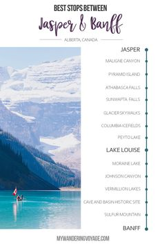 updated 2019 No trip to Canada is complete without experiencing the Canadian Rockies in Jasper National Park and Banff National Park. Here are the best places to stop along the Icefields Parkway and beyond. Alberta Canada, Banff Alberta, Jasper Alberta, Canada Canada, Parks Canada, Places To Travel, Places To See, Travel Destinations, Travel Tourism