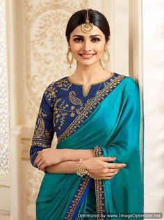 Description Blue Embroidered Art Silk Saree features an art silk blouse and saree embellished with zari and stone work.