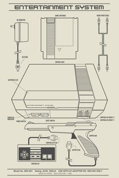 I've always liked the vector illustrations of the user's manual in hardware, so this is my take on the always classics Nintendo gaming consoles: NES and SNES. Retro Videos, Retro Video Games, Video Game Art, Retro Games, Arcade Games, Videogames, Mode Geek, Bartop Arcade, Mundo Dos Games