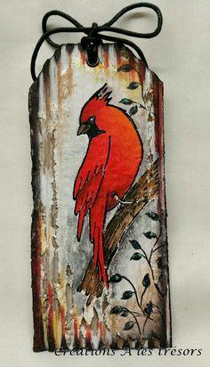 Créations A les trésors: Étiquette avec mon joli Cardinal