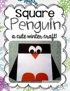 Here's a penguin themed craft focused on shapes and symmetry.