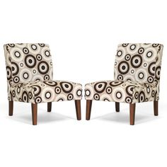 Davis Tan Circles Accent Chairs (Set of 2) | Overstock.com Shopping - The Best Deals on Living Room Chairs