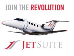"""JetSuite   """"JetSuite, the only private jet to offer a fleet of exclusively all-new Embraer Phenom 100 private planes, offers no-commitment"""