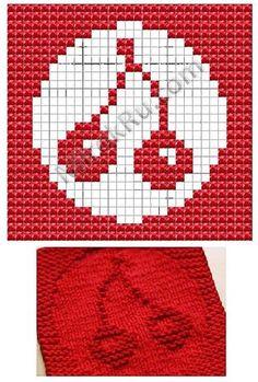 Cherry Dish cloth pattern. http://vk.com/club31635666