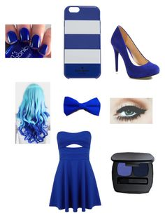 """Women in blue"" by im-the-quenn ❤ liked on Polyvore featuring Mode, Miss Selfridge, Jessica Simpson, Bare Escentuals und Kate Spade"