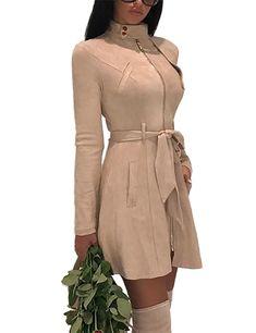 New Women Winter Coat Fashion Women Long Sleeve Warm Trench Coat Ladies Casual Long Jacket Outwear Parka Tops : Coat Dress, Belted Dress, Belted Coat, Dress Clothes, Cheap Clothes, Sheath Dress, Dress Shoes, Dance Shoes, Winter Coats Women