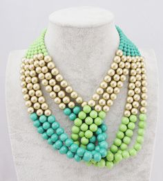 2013-Statement-Jewelry-Fashion-Multi-layer-Blue-Resins-Beads-Choker-Collar-Necklaces-.jpg (1000×1106)