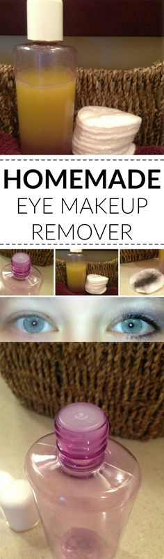 Learn how to make your own homemade eye makeup remover using only 2 ingredients. Seriously cheap, all natural and very good for your skin! Eye Makeup Remover, Food Now, Diy Skin Care, 2 Ingredients, Skin Care Regimen, Perfect Food, Hair And Nails, Health And Beauty, Beauty Hacks