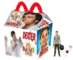 """""""Dexter"""" Happy Meal this would be the best kids meal :) Kill Bill, King Kong, Dexter Finale, Happy Meal Box, Scary Films, Best Horror Movies, Pop Culture Art, Best Horrors, Alternative Movie Posters"""