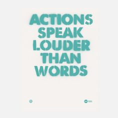 Actions Speak Louder Print now featured on Fab.