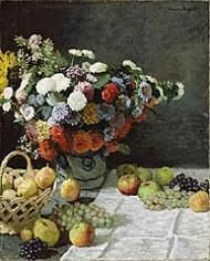 Impressionist paintings- discussion/lesson plan- Still Life with Flowers / Monet