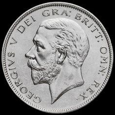 1928 George V Silver Half Crown, A/UNC