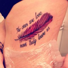 Tattoo in memory of a family member #TattooIdeasInMemoryOf