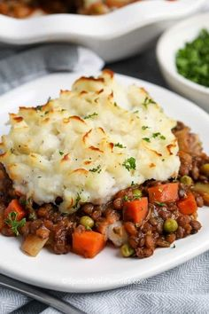 Tasty Vegetarian Recipes, Vegetarian Main Dishes, Vegan Dinner Recipes, Vegan Dinners, Veggie Recipes, Healthy Recipes, Easy Lentil Recipes, Potato Recipes, Dessert Recipes