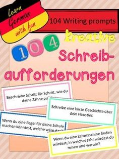 [original_tittle] – Ina Merfort [pin_tittle] German Writing Prompts- 104 kreative… by Learn German With Fun Education Major, Science Education, Elementary Education, Education Quotes, Simply Learning, Writing Promts, Learn German, Mentor Texts, Writing Words