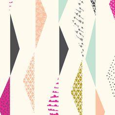 Pennants Waving | Ivory from Koi by Rashida Coleman-Hale for Cloud9 Fabrics