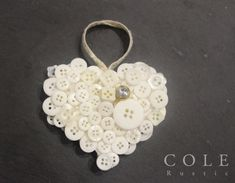 Button Heart Christmas Tree Decoration by ColeRustic on Etsy
