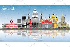 #Saransk #Russia #City #Skyline by Igor Sorokin on @creativemarket